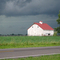 Barn scared by impending storm!