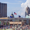 Fort Wayne, Indiana skyline taken from Parkview Field on June 25, 2009