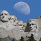 Photoshop of a Blue Moon on Mount Rushmore