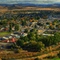 Panoramic of the City of Prineville with Fall Colors.