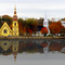 Autumnal colours at Mahone Bay, Nova Scotia